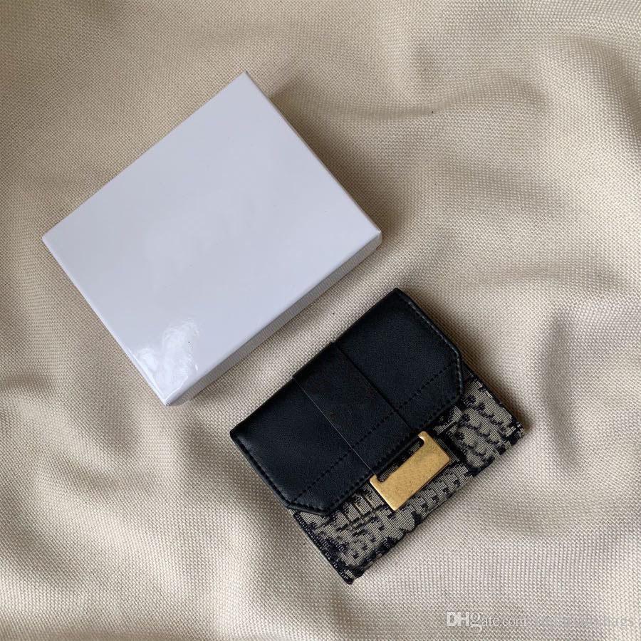 2020 caliente venta de moda de la vendimia lujo de la carpeta de la marca de diseño pintado cartera de piel de becerro cartera pequeña luz el envío libre