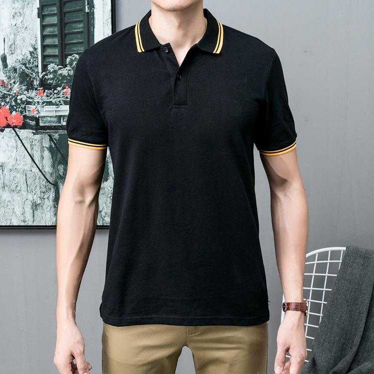 Polo Homens camisa bordado manga curta Tops Ligue-down clássicas dos homens Casual Polo Collar Roupa Moda Masculina