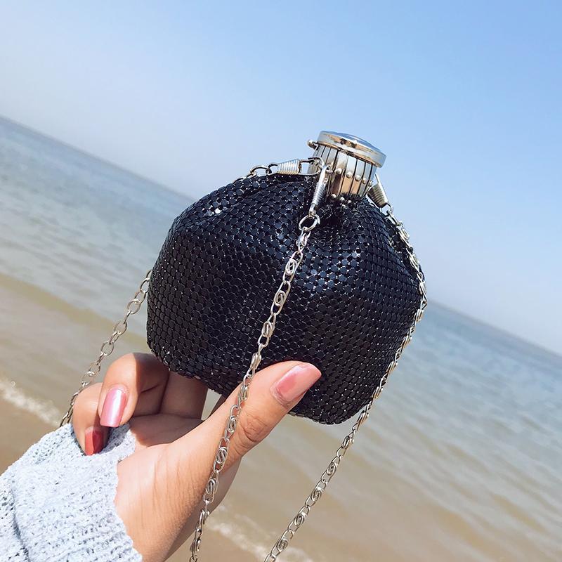 Mini Kova Çanta Yüksek Sequins Zincir Kaliteli Çanta Yaz Çantası 2019 Bolsas Omuz Messenger Çantalar kadın Yeni VDWTA