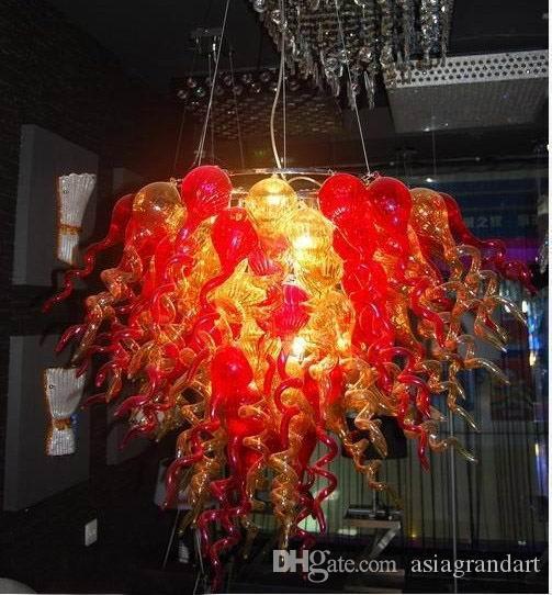 100٪ الفم في مهب CE UL البورسليكات زجاج مورانو كيلي دايل الفن الصيني نمط الزفاف ديكور زجاج الكريستال الثريا