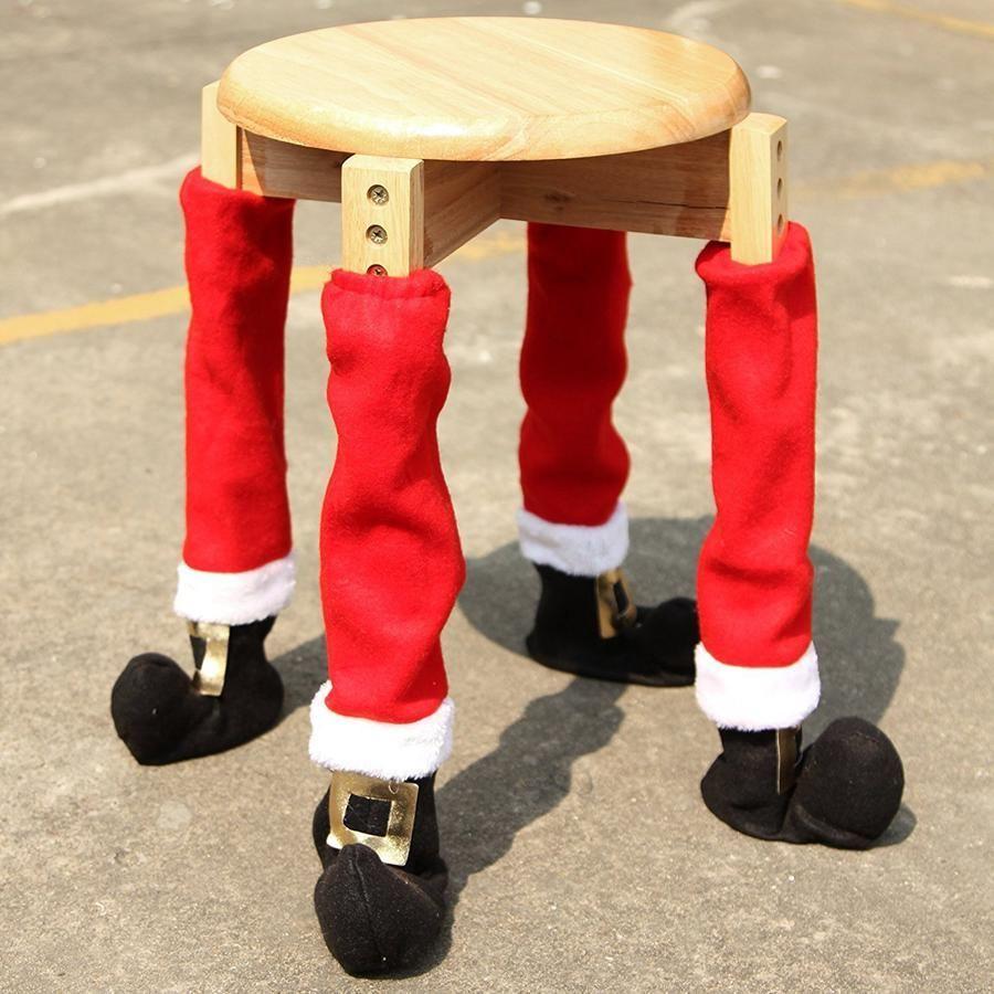 Christmas Chair Foot Cover Santa Claus Table Leg Xmas Decoration Floor Protectors Party Favor 50pcs OOA7351-2