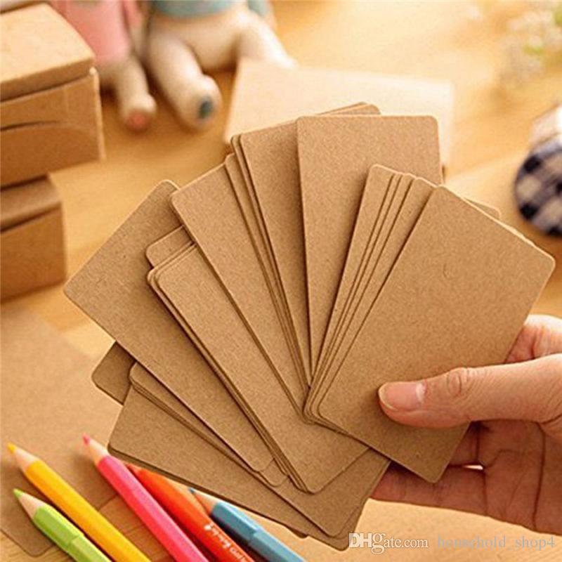 Großhandel Blank Kraftpapier Visitenkarten Wort Karten Mitteilungs Karte Diy Geschenkkarte 300g Papier Mischungsfarben Von Household Shop4 1 32 Auf