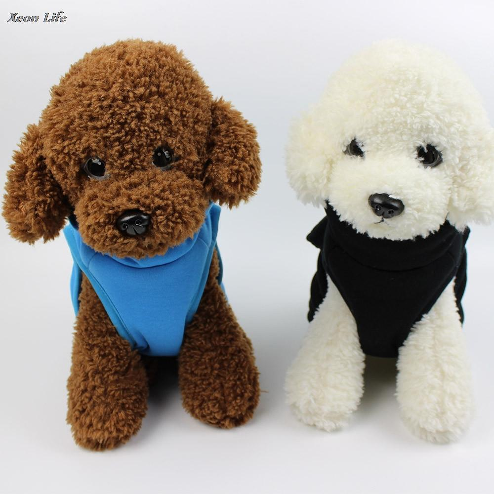 Pet Dog cucciolo del gatto caldo inverno vestiti del costume del cappotto del rivestimento dell'animale domestico del gatto del cane di inverno dei vestiti del cappotto Abbigliamento Moto cucciolo caldo