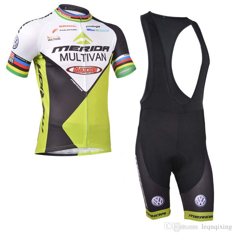Trend Explosion Trend Vendita calda Merida Team Fashion Cycling Manica corta Maglia Bib Gentile Pantaloncini Set 61110