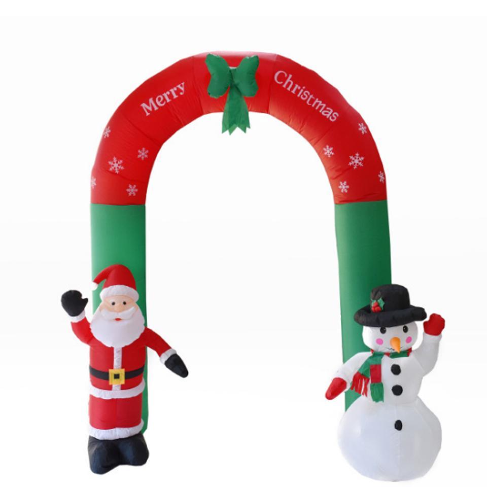 Новогоднее украшение 2.4м Надувной Рождество Арк Санта-Клауса снеговик Рождество двери игрушки Украшение дома Garden Party