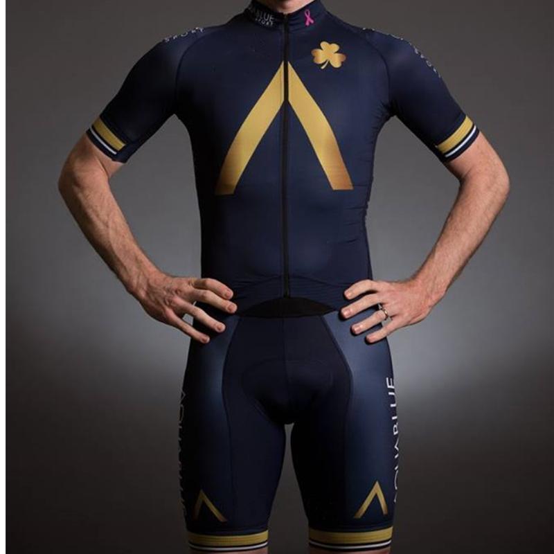 أكوا skinsuit الأزرق 2020 فريق المؤيد في الهواء الطلق الثلاثي جيرسي ركوب الدراجات دراجة الرجال بدلة الرياضة مجموعات الجسم ciclismo الملابس MTB الجلد