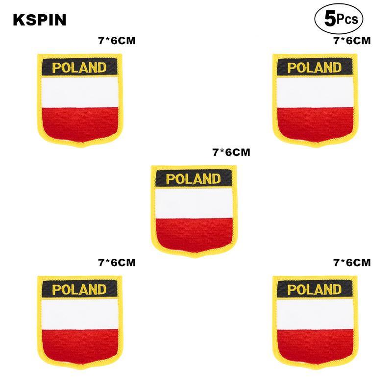 Transferi üzerine Testere üzerine Polonya Bayrağı Nakış Yamalar Demir şekilleri ev bahçeleri içinde Giyim için Dikiş Uygulamaları yamaları