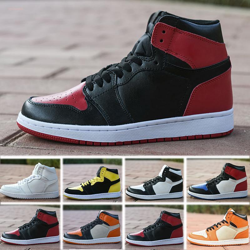 Nike Air Jordan 1 Kadınlar Spor Meşalesi Hare Oyun Kraliyet Çam Green Court Boyutu 36-45 için Jumpman 1 Basketbol Ayakkabı Atletizm Sneakers Koşu Ayakkabısı