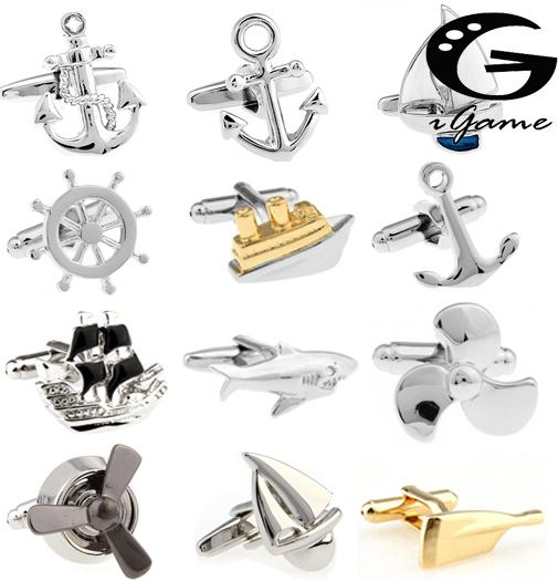Free Shipping Fashion Cufflinks Sport Anchor Design Brass Material Cuff Links Gift For Seaman T200305
