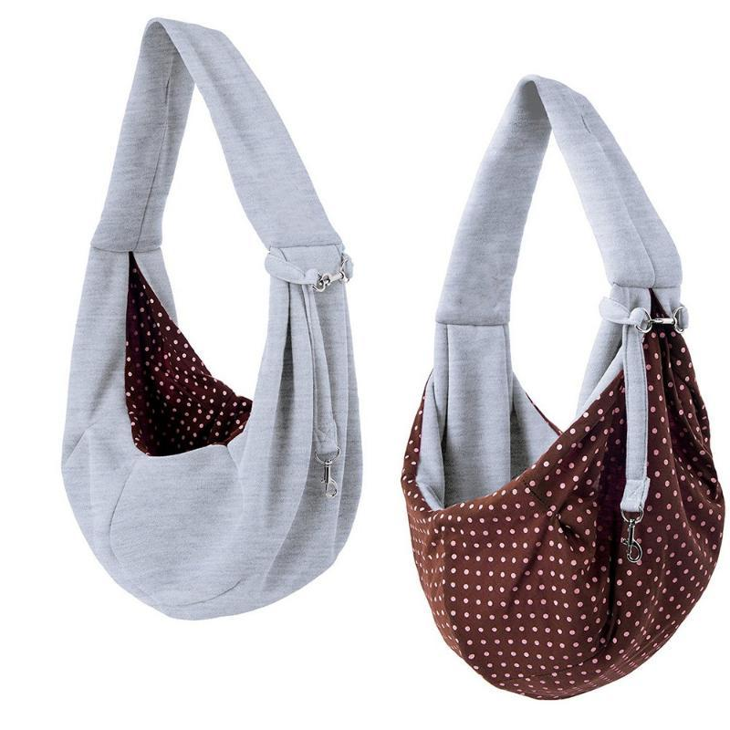 Pet Sling cane del cucciolo del gatto Small Animal Carrier Candy modello 100% cotone spalla Bag Pet Carriers cucciolo Pouch