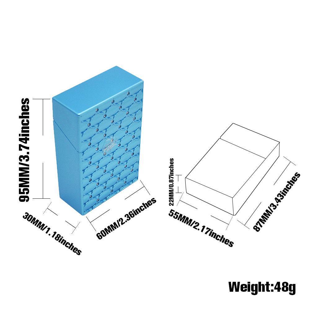 Alivio de la moda Caja de cigarrillos de plástico cubierta de la caja 87 MM * 55 MM * 22 MM Caja de cigarrillos regular Titular de la caja Plástico duro fumar tabaco Caja de la hierba Frasco