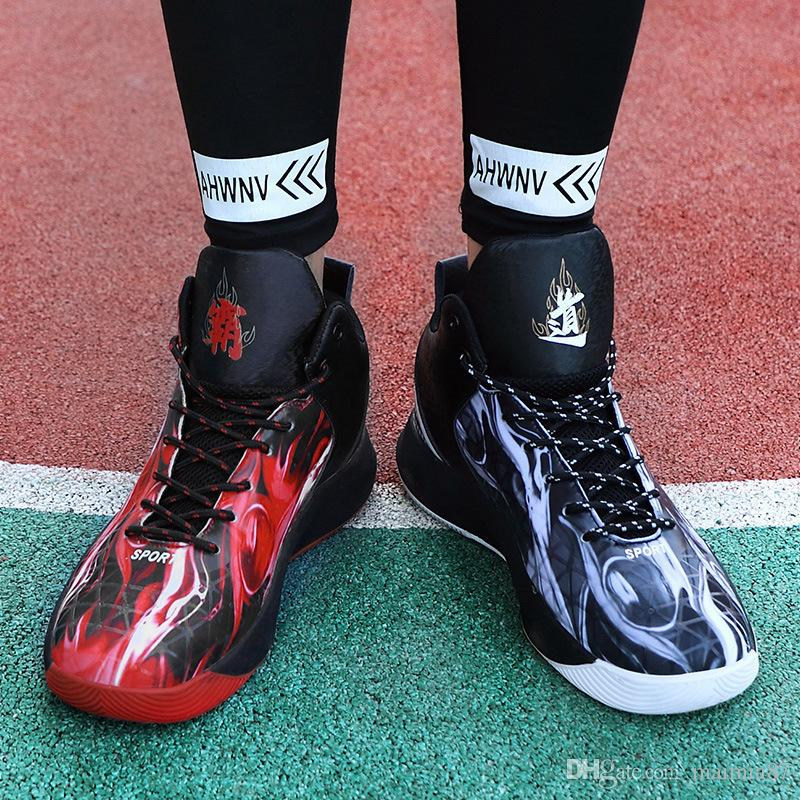 Estilo chinês Sustomized Mens Casual Odd Shoes alta Cuff Air chuta botas Jogar bolas Homens Sneakers fora desgaste dos meninos do trem sapatos pai-filho