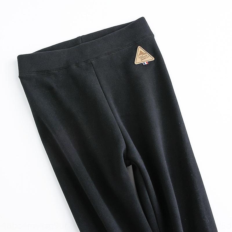 Xnslx ItTBZ algodón de gran tamaño trousersCoat polainas otoño de desgaste exterior y los tobillos 2019 nuevo terciopelo de las mujeres espesan los pantalones apretados WINTE