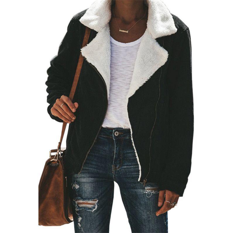 Herbst Winter Plüsch Design Dicke Frauen Jacke Luxus Revers Langarm Strickjacke Lose Mantel Hochwertige Casual Marke Oberbekleidung Top