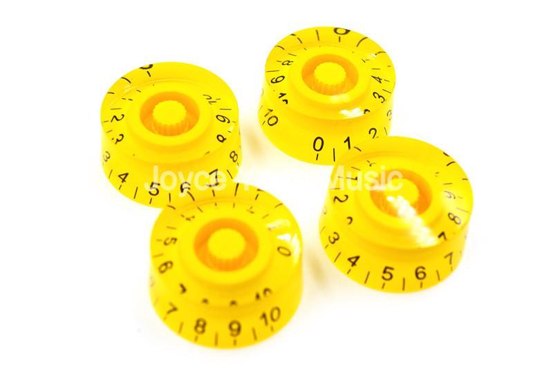 1 Set di 4 pezzi Niko giallo trasparente chitarra elettrica manopole per LP SG chitarra elettrica di stile trasporto di commerci all'ingrosso