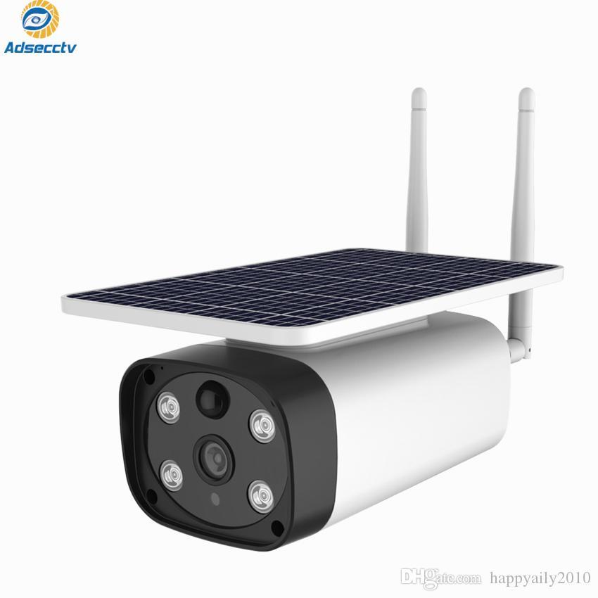 واي فاي تعمل بالطاقة الشمسية كاميرا مراقبة الأمن 1080P كشف الحركة الاستشعار اتجاهين الصوت IP67 للماء رؤية قريبا الملونة AS-IP8615SPW