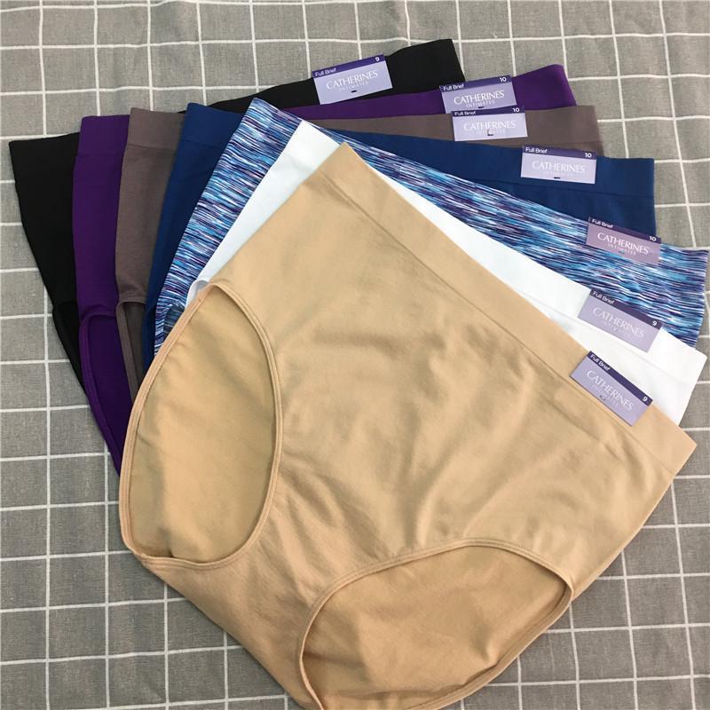 L XL2XL 3XL 4XL 5XL Plus Size MALE nahtlose High-Rise des Schlüpfers der Frauen Unterwäsche-Mischungsfarbe 10pcs / lot bl427