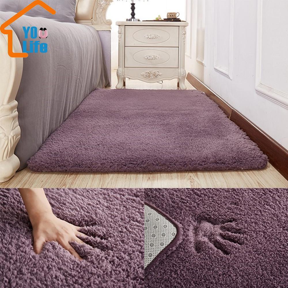 거실 러그 지역 솔리드 카펫 무성한 소프트 홈 인테리어 화이트 봉제 카펫 베드룸 부엌 바닥 매트 화이트 러그 Tapete