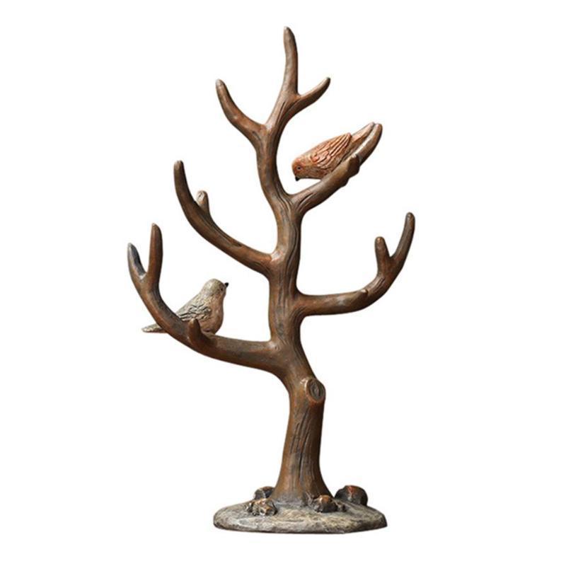 2020 Resin 2 Birds Tree Branch Jewelry Organizer Key Storage Rack Stand Holder From Dushiring 20 5 Dhgate Com