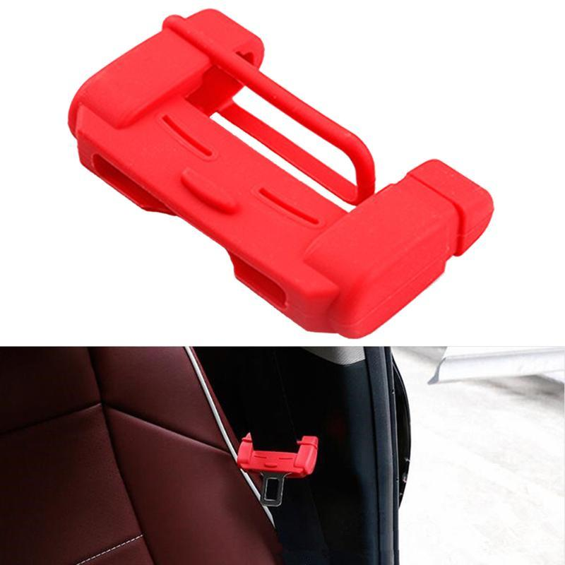 2pcs Interior Accessories Silicone Seat Belt Buckle Seat Padding Car Protector Universal Cover Clip Anti-scratch Auto