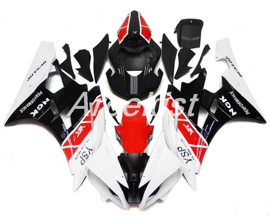 Inyección caliente ventas de molduras nuevo ABS llena de la motocicleta carenado Fit Kit para Yamaha YZF R6 2006 2007 Carrocería conjunto personalizado gratuito Negro Rojo