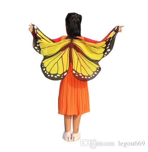 حديثا تصميم أجنحة الفراشة الباشمينا شال أطفال بنين بنات حلي الإكسسوار GB447