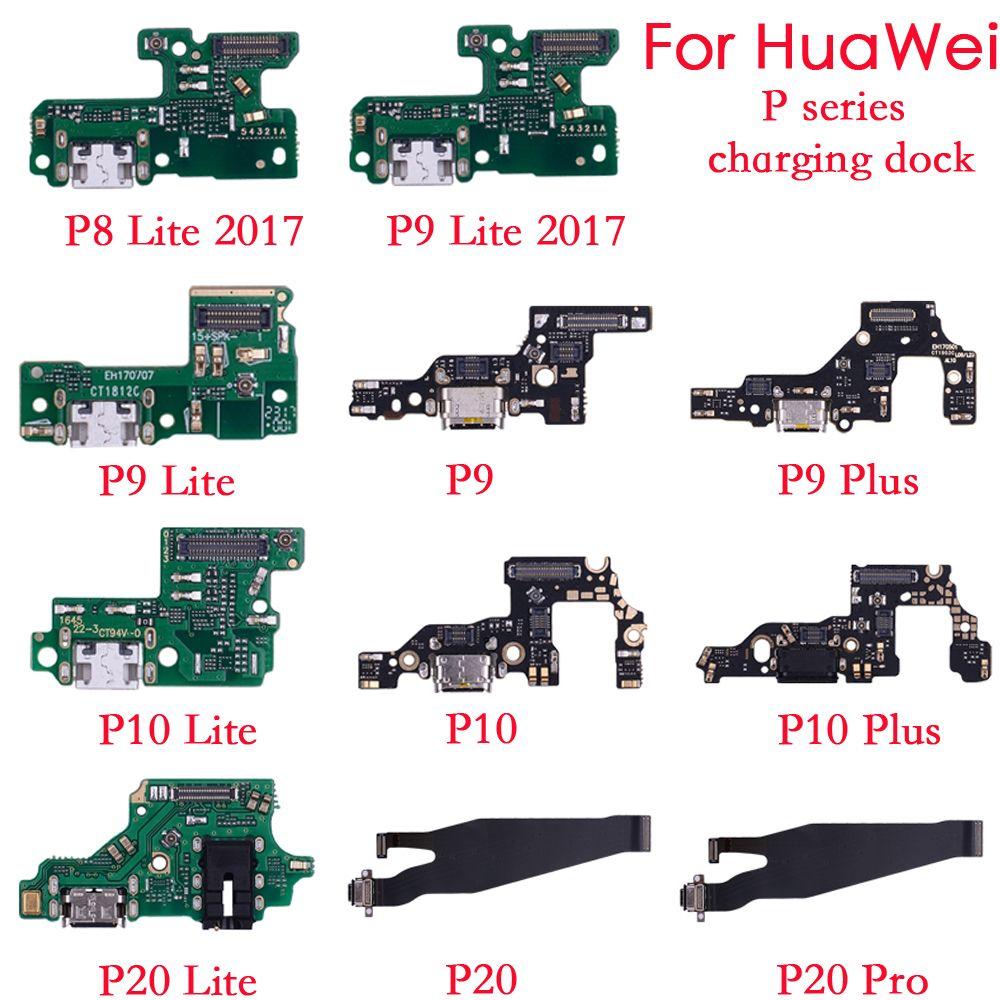 10psc для Huawei P8 lite 2017 P9 P10 P20 lite Plus зарядное устройство зарядный порт док-станция USB разъем для передачи данных гибкий кабель разъем для наушников гибкая лента