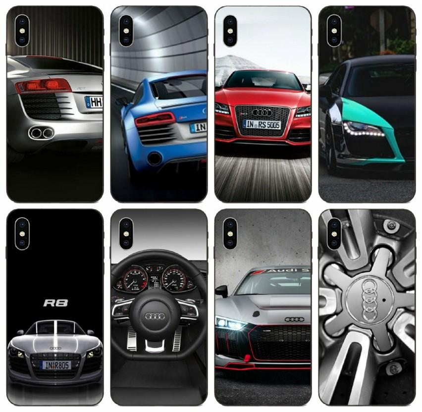 [TongTrade] iPhone Para o Caso Logo Sports Car Audi R8 carro 11 Pro Max X XS 8s 7s 6s 5s 4s Galaxy J7 J1 Mini Honor V9 Jogar LG grossista K8