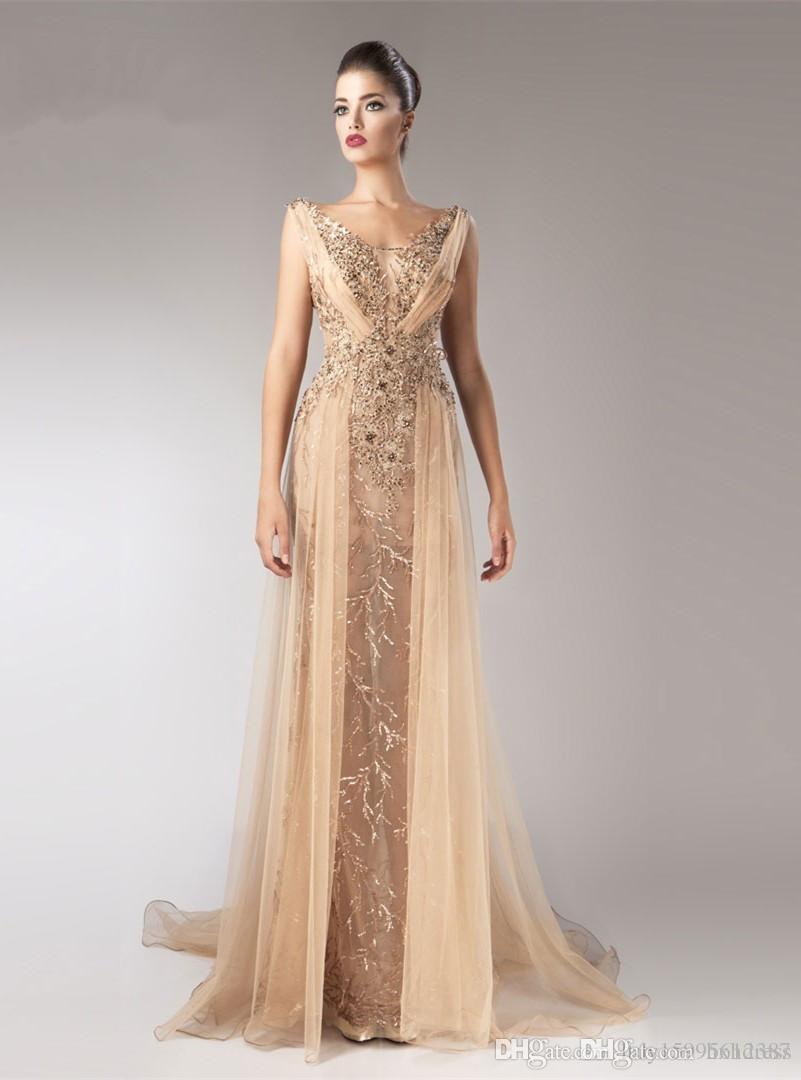 New Sexy dress V neck unbacked Prom dress custom dubai Arab party dress DE formal dance vestido de festa Evening Dresses 388