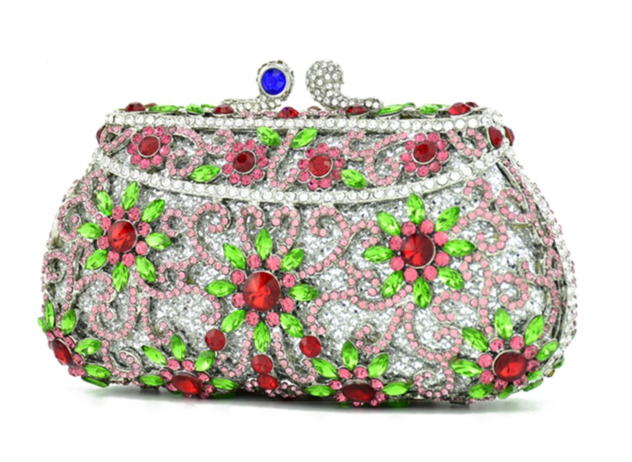 Xiyuan Mulheres Evening sacos Dia Embreagens Prom embreagem saco banquete bolsa com Bolsa de Ombro Cadeia da festa de casamento da embreagem prata