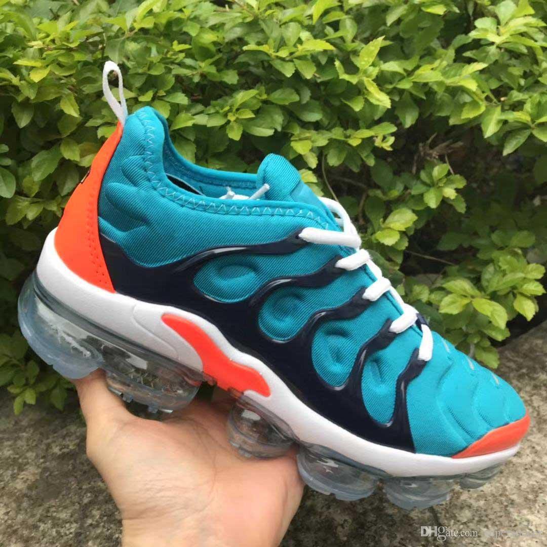 TN Além disso Universidade Azul vermelho dos homens mulheres correndo Sports Shoes Espírito Teal Geometric ativo do arco-íris Homens Sneakers instrutor