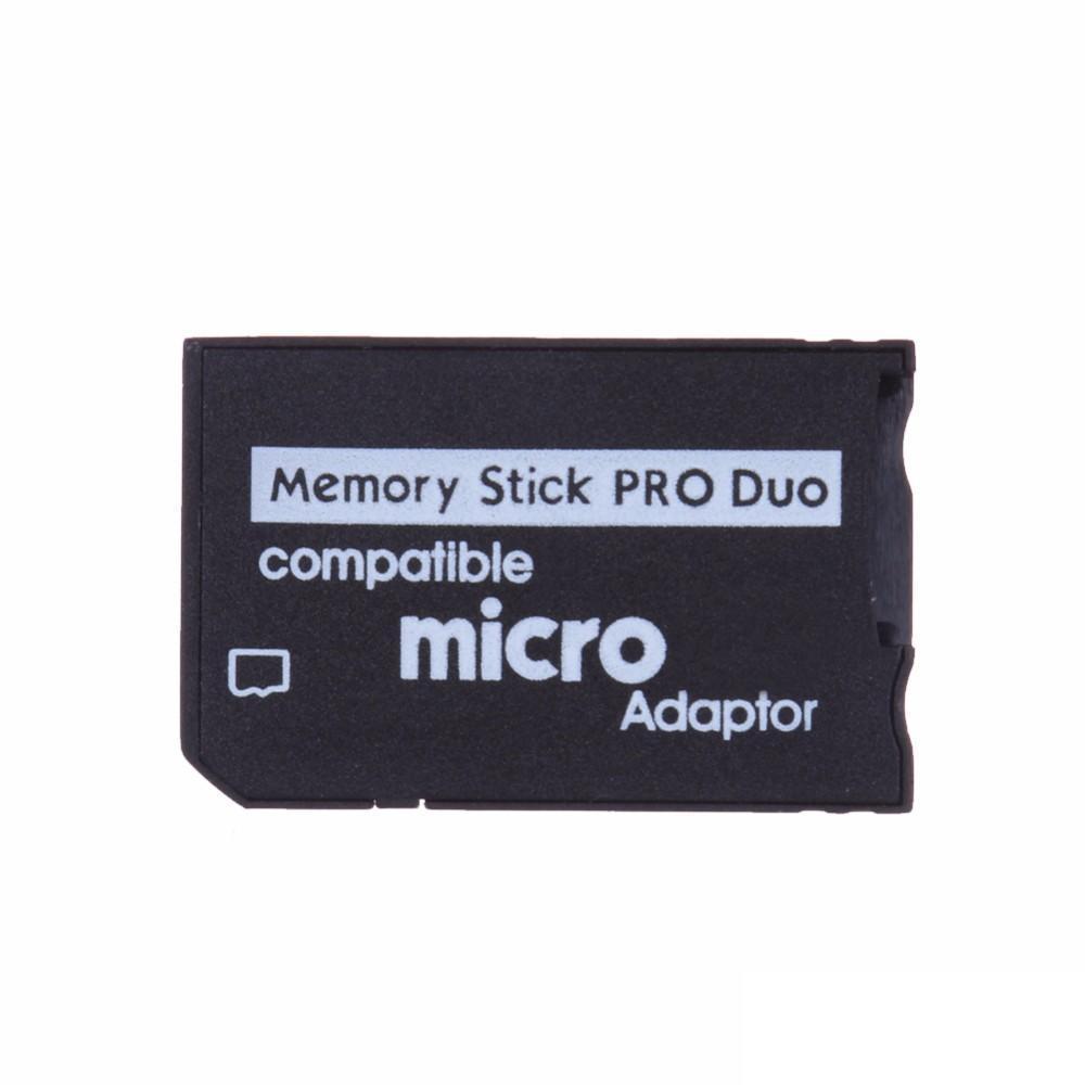 مايكرو SD إلى ذاكرة برو ديو محول متوافق مايكرو TF محول مايكرو SDHC إلى MS PRO الثنائي ذاكرة القارئ لسوني PSP 1000 2000