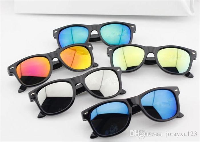 los niños de la moda gafas de sol gafas de sol gafas de niños remache ultravioleta del sol 5colors J065