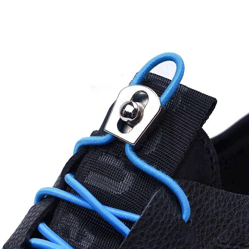 100 CM 1 Para Elastische Schnürsenkel Metallschnalle Runde Schnürsenkel Praktische Schnürsenkel Keine Krawatte Kinder Erwachsene Turnschuhe Faule Schnürsenkel
