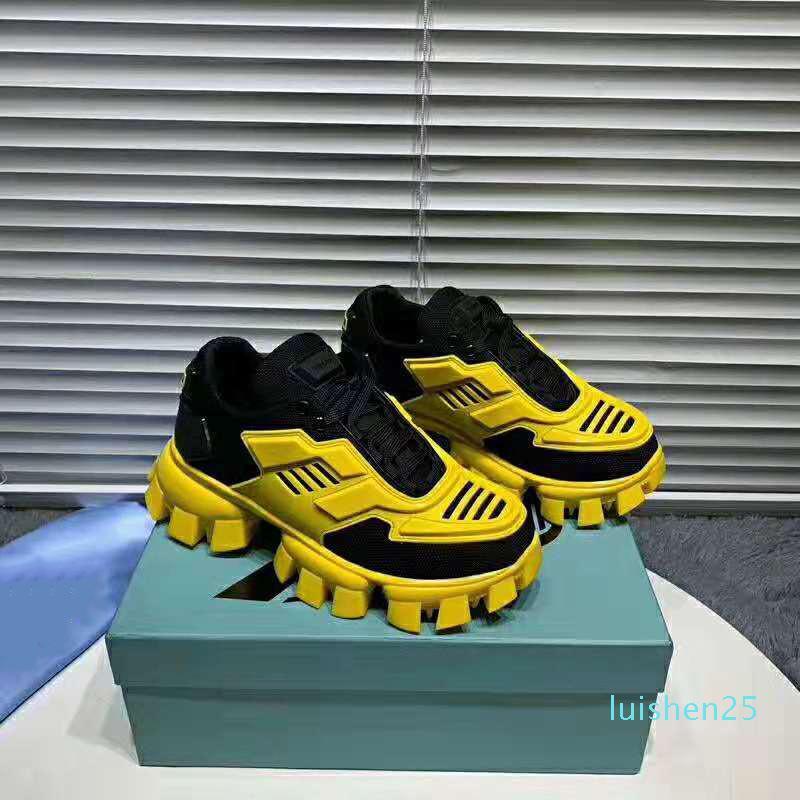 2020 neue Art und Weise Designer Schuhe Cloudbust Donner Low Top Outdoor-Mesh-Männer Frauen Schwarz Sohle-Schuh-Gelb-beiläufige Schuh-Größe 35-46 AL12