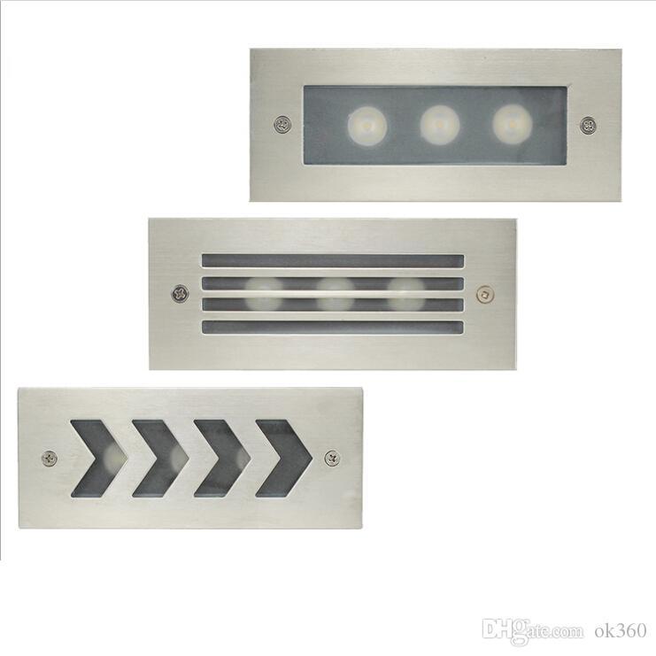 imperméable 3W 6W AC85-265V blanc froid chaud LED d'escalier / lumière d'étape a enfoncé la lampe de coin de mur extérieur d'intérieur