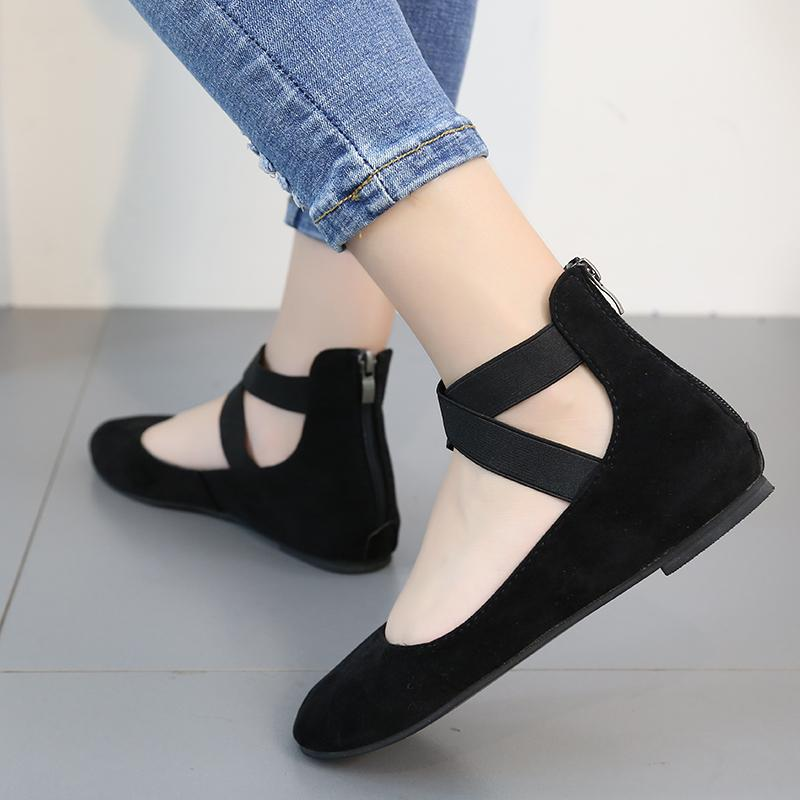 Dancing Shoes for Women,Womens Casual Flock All Seasons Ballet Slip On Flats Loafers Shoes