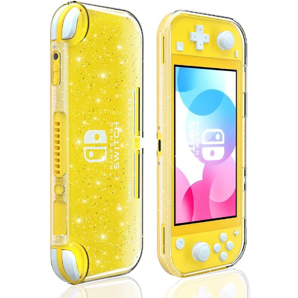 Cristal Glitter pour Nintendo Lite Commutateur, clair brillant Sparkly TPU fluorescent soft shell couverture Switch Lite