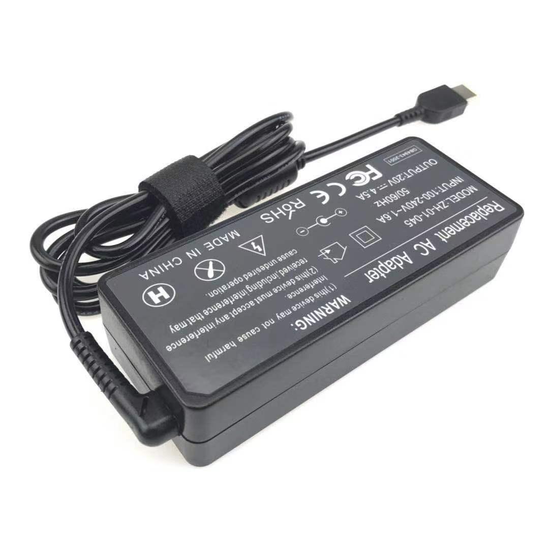 Laptop USB зарядное устройство Совет 20V 4.5A 90W Желтый прямоугольник с Pin для Lenovo ThinkPad ADLX90NLC3A