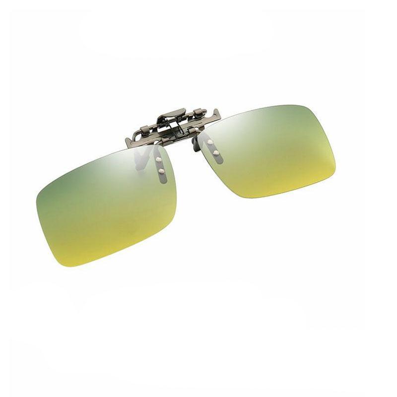 Lunettes de soleil clip pour polarisants Myopie Day Night Vision Lunettes Carré Objectifs Hommes Femmes Cyclisme Conduite Pêche Courir UV400