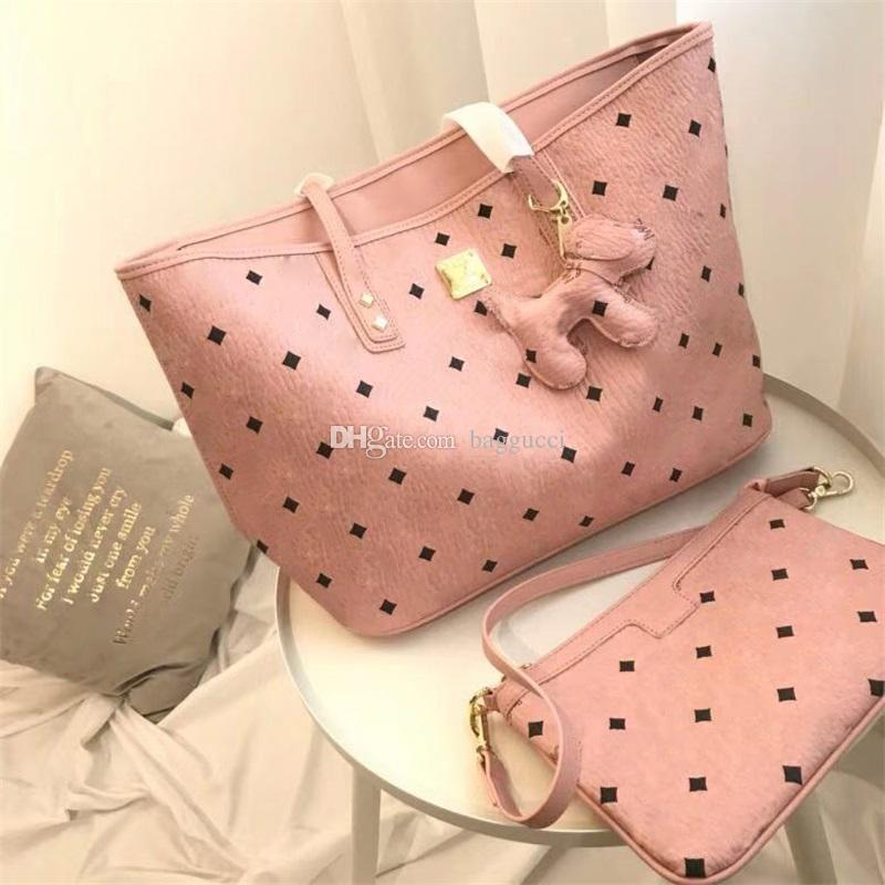 Розовый цвет Sugao Письмо женщин сумки Два ПК Набор высокого качества для девушки сумки плеча мешки 3Color Имеющийся горячего сбывания мешок Мода Стиль