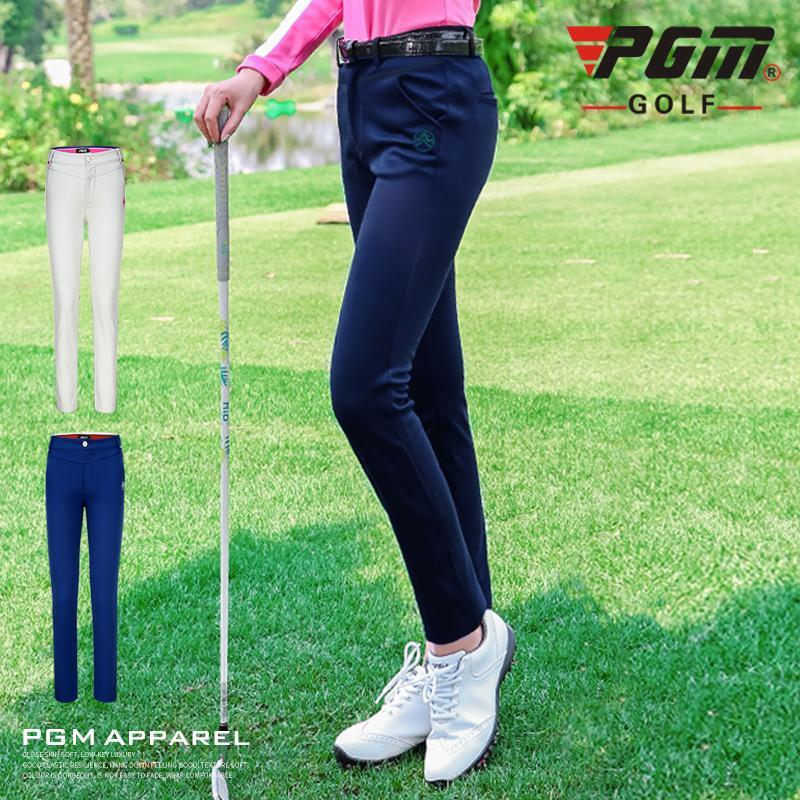 Pgm Automne Hiver Pantalons golfeuses Femmes Printemps Pantalons Pantalons Sport haut Elasticité polaire chaude D0503 imperméable Golf Vêtements