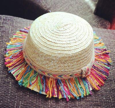 Sun Flat Straw hat Boater hat Girls Summer Hats for Women Beach Flat Panama Straw hat Femme 48-52-54-58cm
