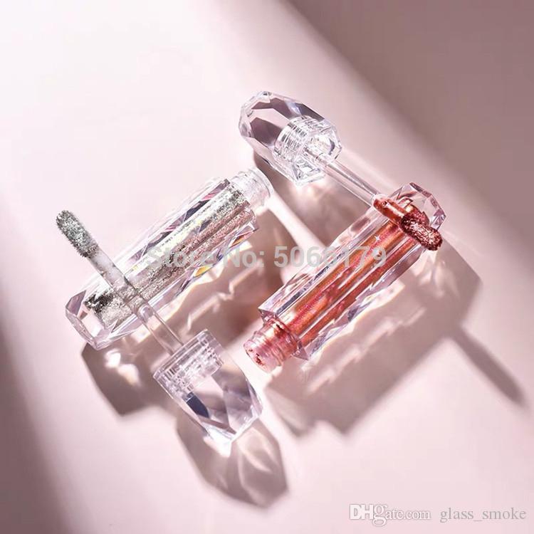 50pc 2ml를 클리어 립 글로스 지팡이 튜브 빈 포장 DIY 다이아몬드 립글로스 병 화장품 립글로스 용기 투명 Lipst