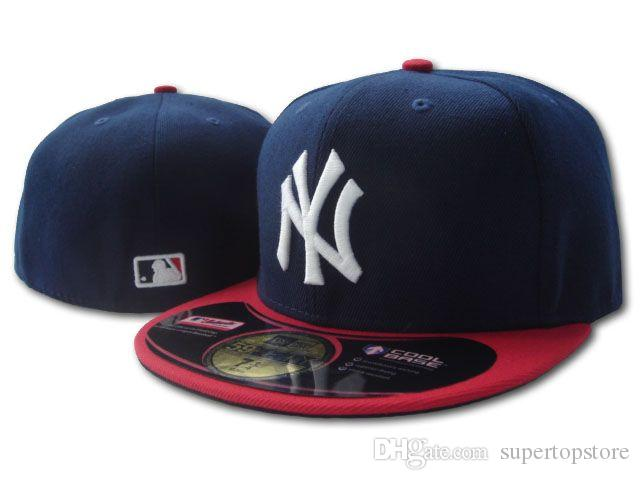 Wholesale 2020 New Men's new york NY On Field Style Baseball Fitted Hats Sport Team Logo Embroidered Full Closed Caps Out Door Fashion Bones