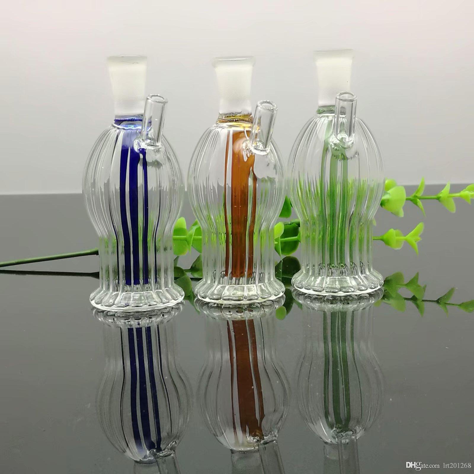Mini listrado garrafa de água de vidro redonda bongs de vidro queimador de óleo tubulações de água de vidro plataformas petrolíferas para fumantes