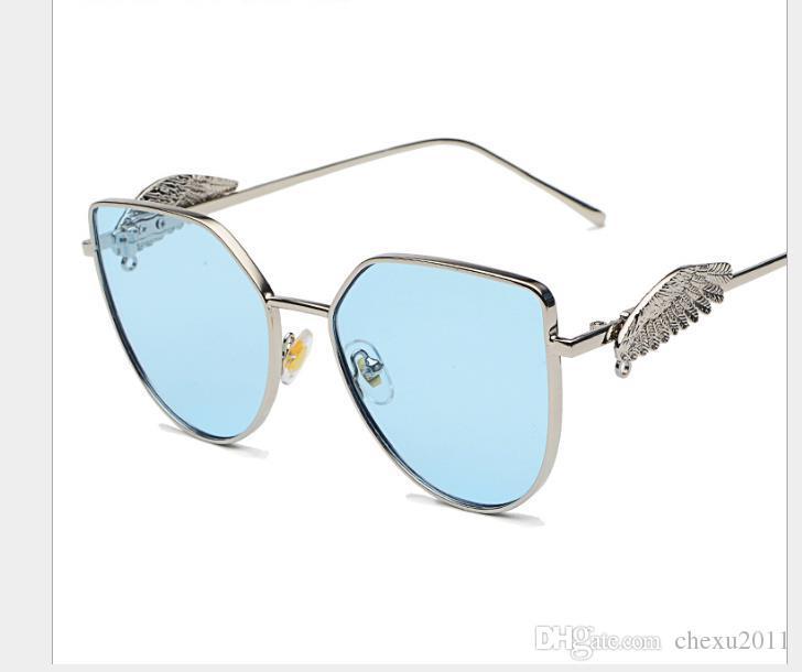 أزياء السيدات الجديدة شقة مرآة معلقة سلسلة النظارات الشمسية للرجال