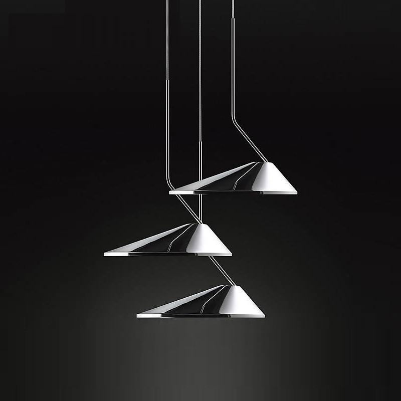 Cord criativo moderno branco preto de vidro do metal LED Pendant Light Pendant Retro Suspensão lâmpada do teto PA0417