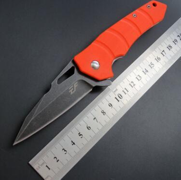 나이프 멀티 도구 포켓 생존 크리스마스 선물 칼을 접는 새로운 도착 EF57 D2 블레이드 G10 핸들 전술 사냥