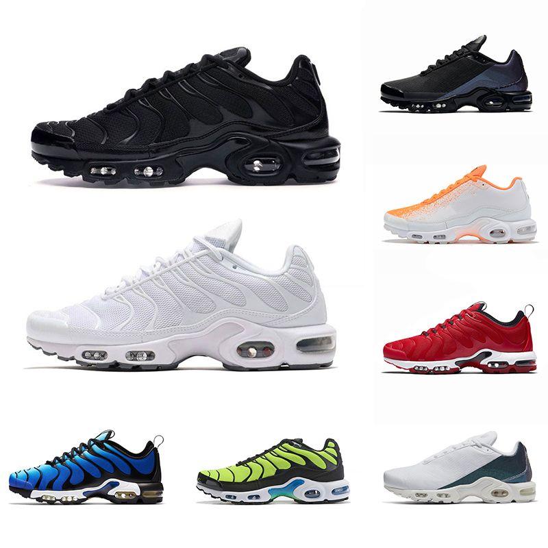 Nike Air Vapormax Tn Plus Ultra SE Herren Damen Laufschuhe Triple Schwarz Weiß Core Schwarz Oreo Weizen Grau Designer Trainer Sport Sneaker Größe 5.5-11